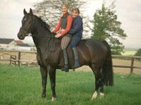 Kinder Auf Pferd